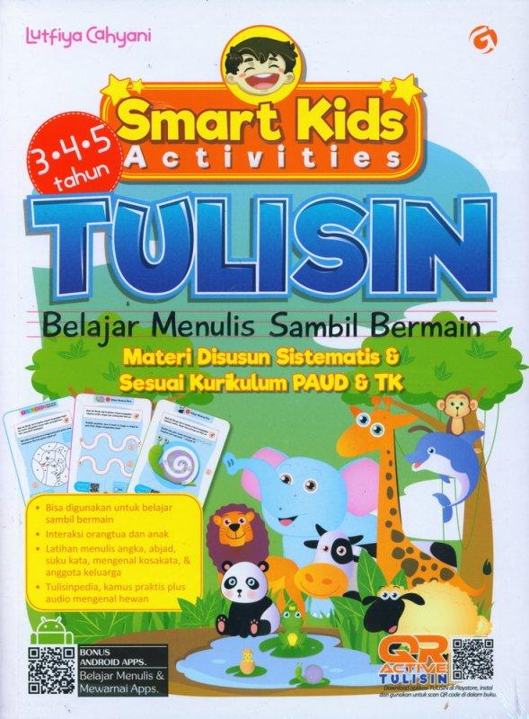 Cover Buku Smart Kids Activities: Tulisin Belajar Menulis sambil Bermain