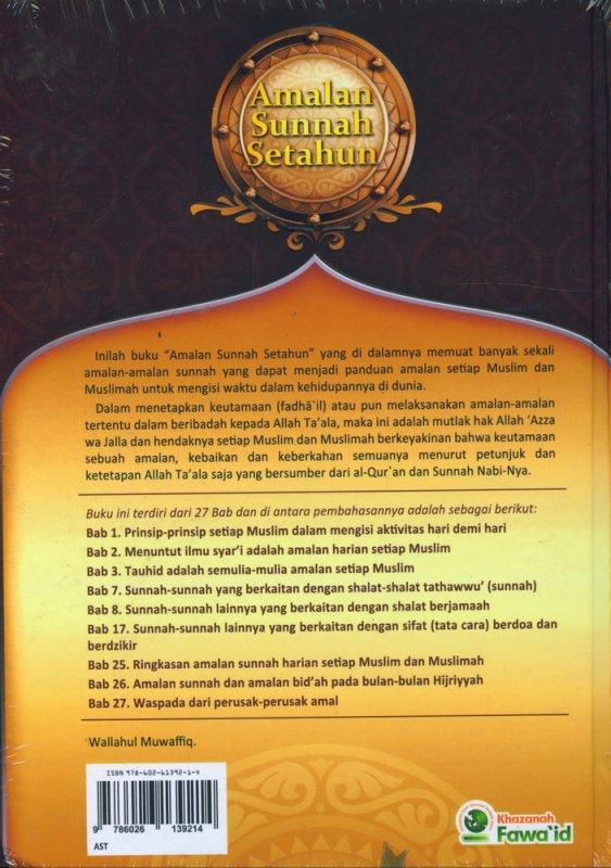Cover Belakang Buku Amalan Sunnah Setahun Menurut AL-QURAN & AS-SUNNAH