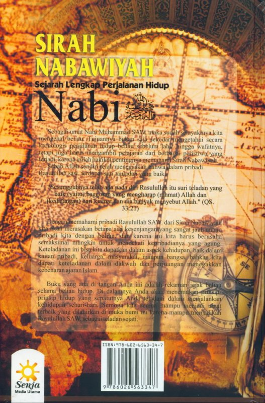 Cover Belakang Buku Sirah Nabawiyah: Sejarah Lengkap Perjalanan Hidup