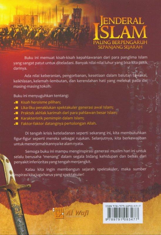 Cover Belakang Buku Jenderal Islam Paling Berpengaruh Sepanjang Sejarah