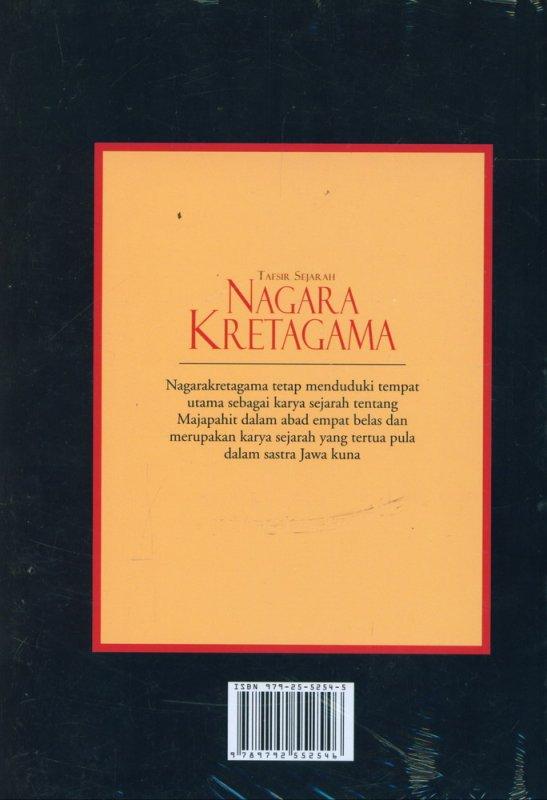 Cover Belakang Buku Tafsir Sejarah Nagara Kretagama