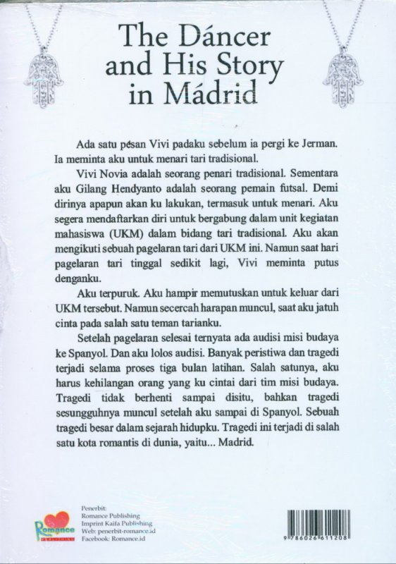 Cover Belakang Buku The Dancer and His Story in Madrid