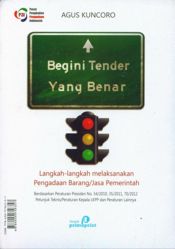 Cover Buku Begini Tender Yang Benar