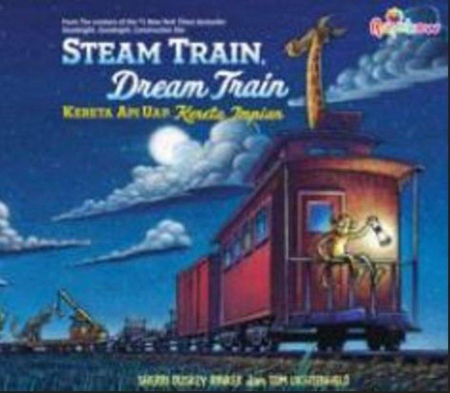 Cover Buku Steam Train, Dream Train, Kereta Api Uap, Kereta Impian
