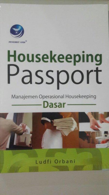 Cover Buku Housekeeping Passport, Manajemen Operasional Housekeeping Dasar
