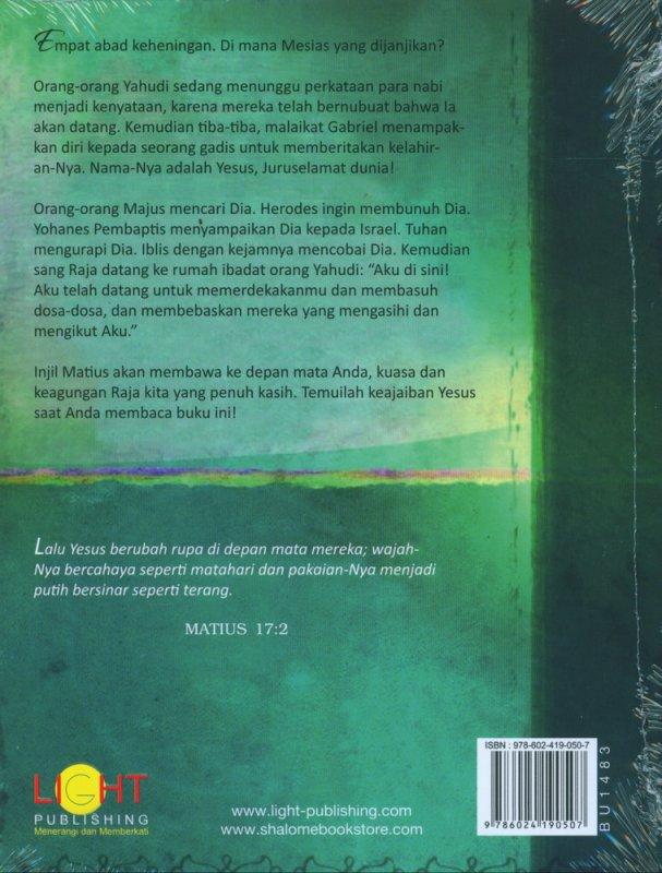 Cover Belakang Buku Matius Raja Kita Yang Penuh Kasih (The Passion Translation)