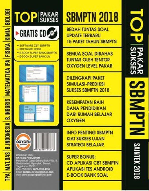 Cover Belakang Buku PAKAR SUKSES TOP SBMPTN SAINTEK 2018