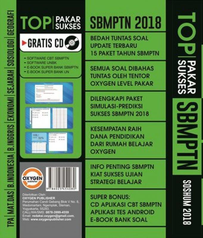 Cover Belakang Buku PAKAR SUKSES TOP SBMPTN SOSHUM 2018
