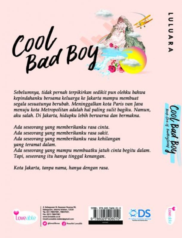 Cover Belakang Buku Cool Bad Boy [Edisi TTD]