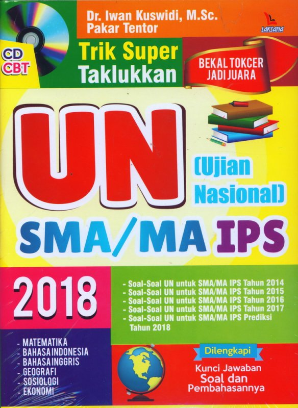 Cover Buku TRIK SUPER TAKLUKKAN UN (UJIAN NASIONAL) SMA/MA IPS 2018 + CD CBT