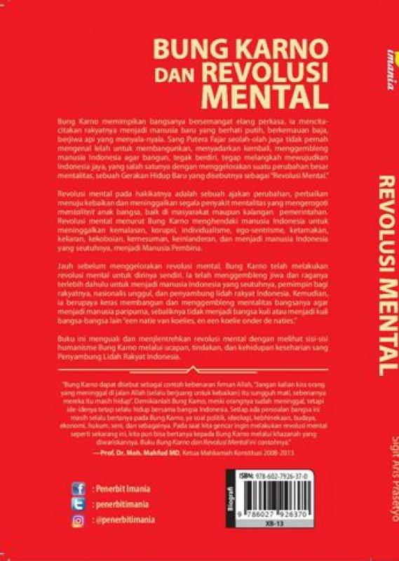 Cover Belakang Buku Bung Karno dan Revolusi Mental