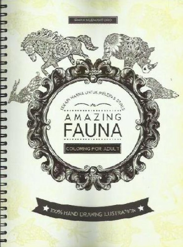 Cover Buku Coloring For Adult: Amazing Fauna