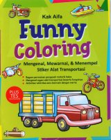 Funny Coloring (Mengenal, Mewarnai, & Menempel Stiker Alat Transportasi)