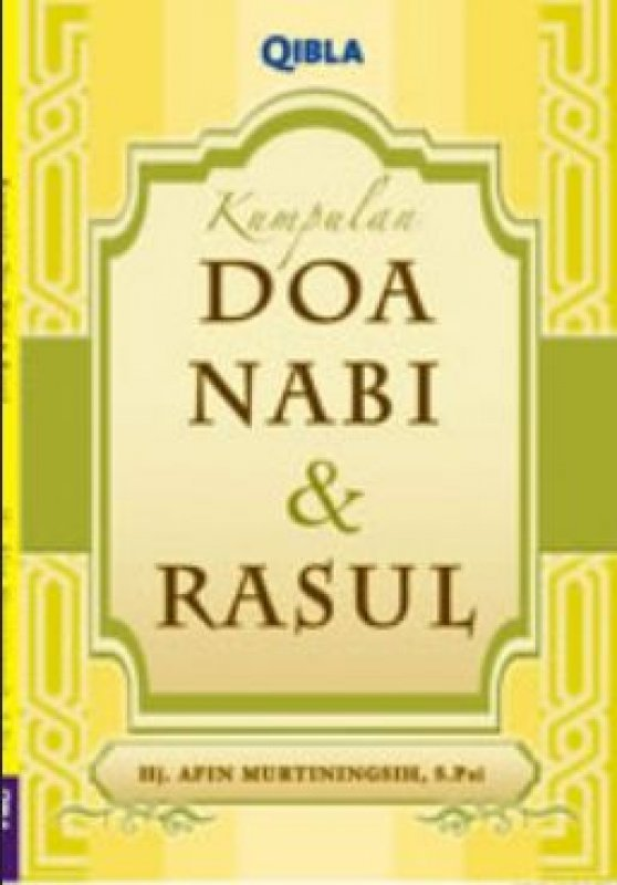Cover Buku Kumpulan Doa Nabi & Rasul (FBO2017)