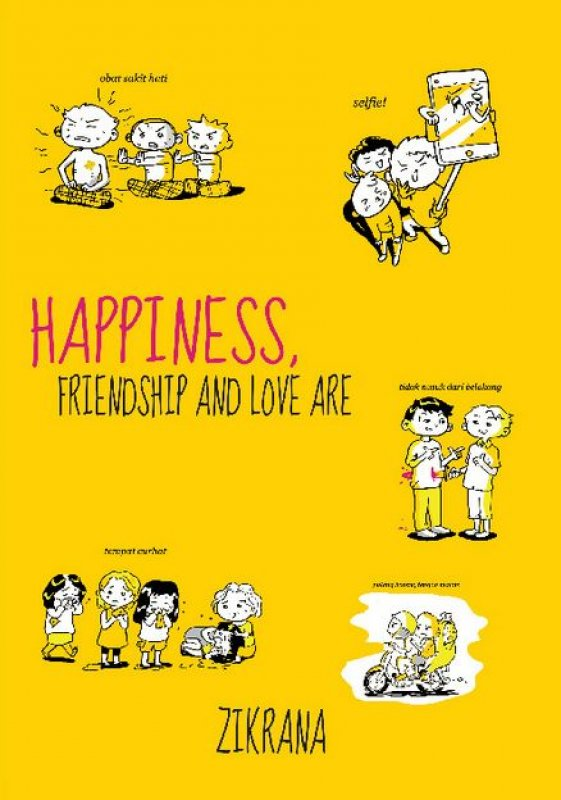 Cover Buku Happiness, Friendship, and Love Are