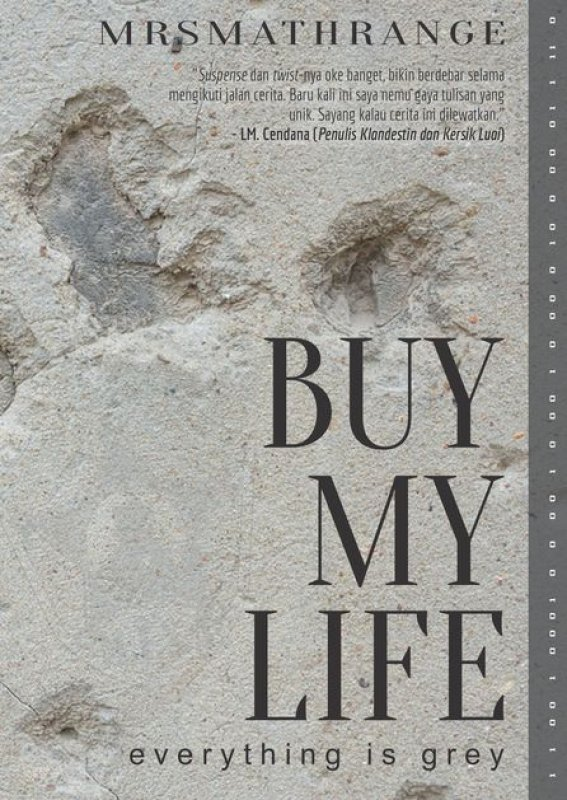 Cover Buku Buy My Life everything is grey