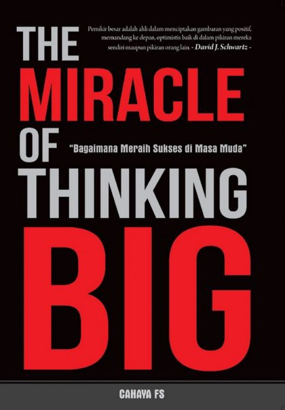 Cover The Miracle of Thinking Big
