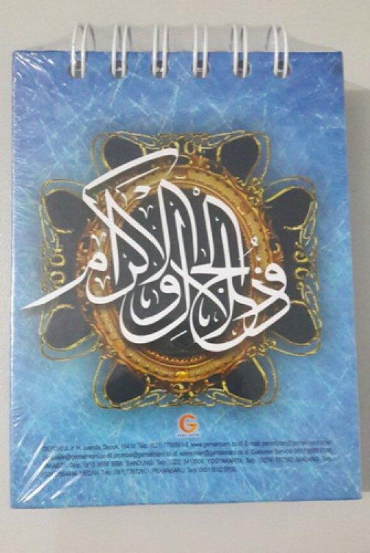 Cover Belakang Buku Kalender Harian Muslim 2018 (cover warna ungu)