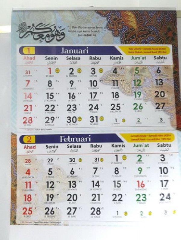 Cover Buku Kalender Regional 2018
