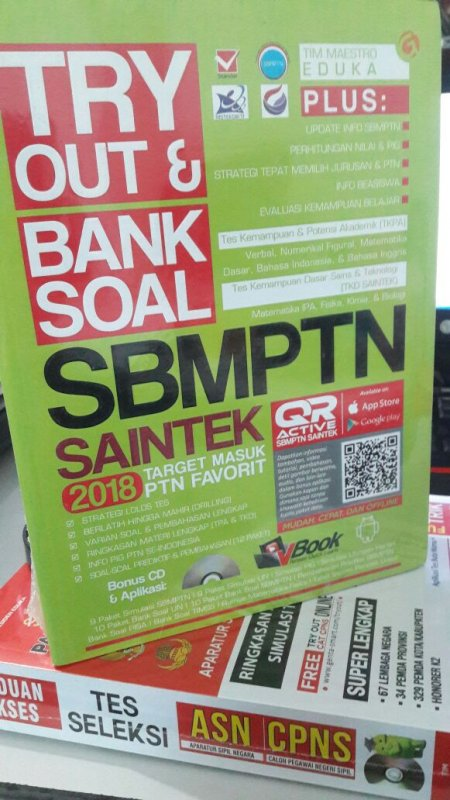 Cover Buku TRYOUT & BANK SOAL SBMPTN SAINTEK 2018 TARGET MASUK PTN FAVORIT