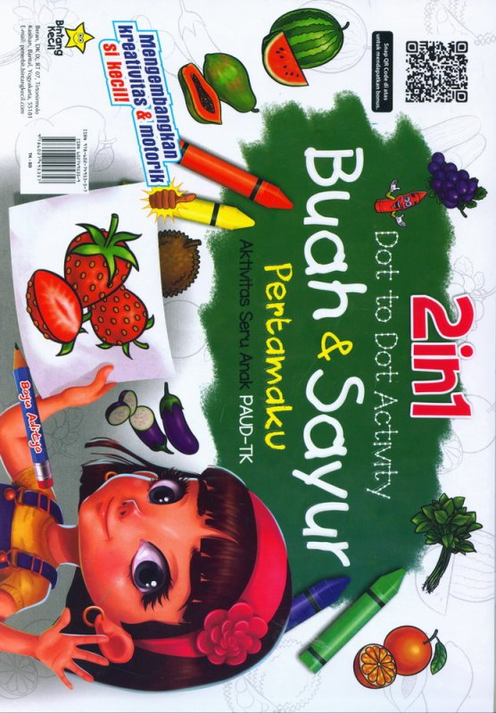 Cover Belakang Buku 2in1 Dot to Dot Activity: Binatang+Buah & Sayur Pertamaku (PAUD-TK)