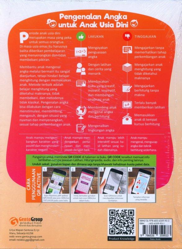 Cover Belakang Buku Hitungin - Belajar Berhitung Sambil Bermain (Smart Kids Activities)