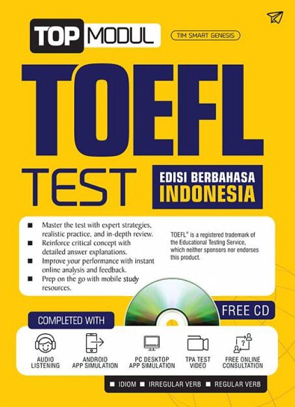 Cover Buku TOP MODUL TOEFL TEST [EDISI BERBAHASA INDONESIA]