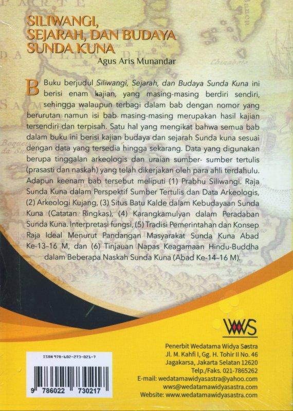 Cover Belakang Buku Siliwangi, Sejarah dan Budaya Sunda Kuna