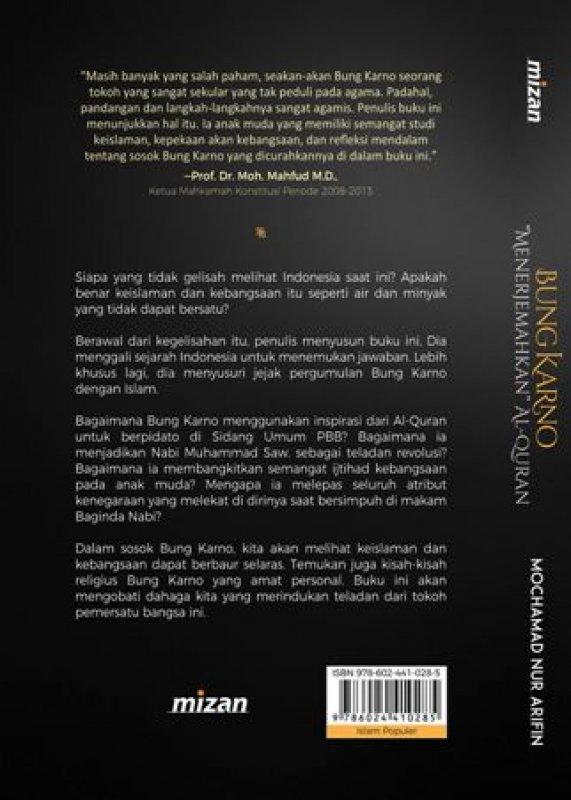 Cover Belakang Buku Bung Karno Menerjemahkan Alquran