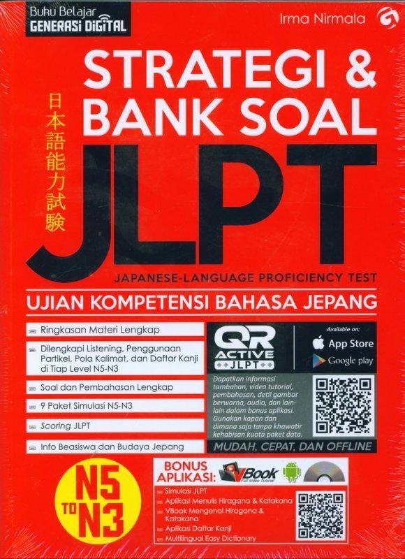 Cover Buku Strategi & Bank Soal JLPT (Japanese-Language Proficiency Test)