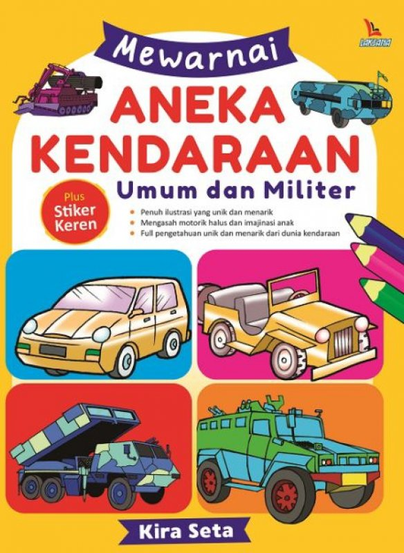 Buku Mewarnai Aneka Kendaraan Umum Dan Militer Bukukita
