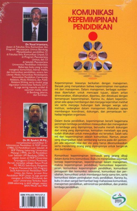Cover Belakang Buku Komunikasi Kepemimpinan Pendidikan