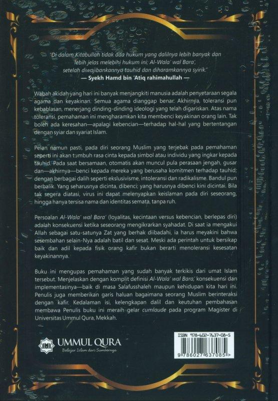 Cover Belakang Buku Al Wala wal Bara Konsep Loyalitas & Permusuhan dalam Islam (Cover Baru)