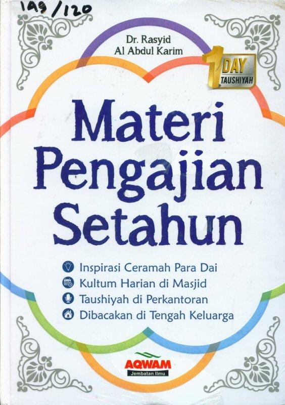 Cover Buku Materi Pengajian Setahun (Cover Baru)
