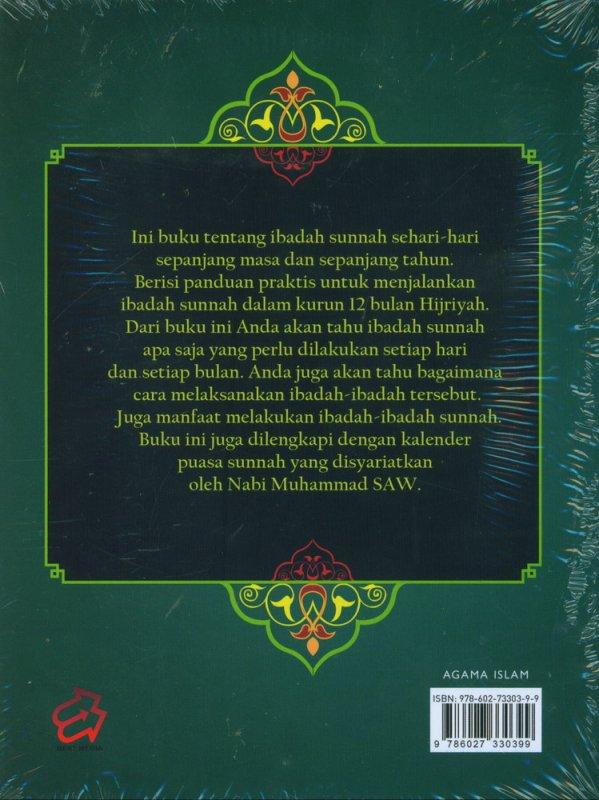 Cover Belakang Buku Kalender Harian Ibadah Sunnah Sehari-Hari Sepanjang Tahun (Gratis Kalender Puasa)