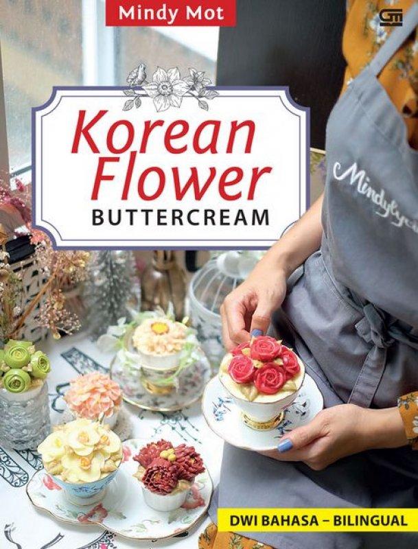 Cover Buku Korean Flower Buttercream ala Mindylycious (Dwi bahasa-bilingual)
