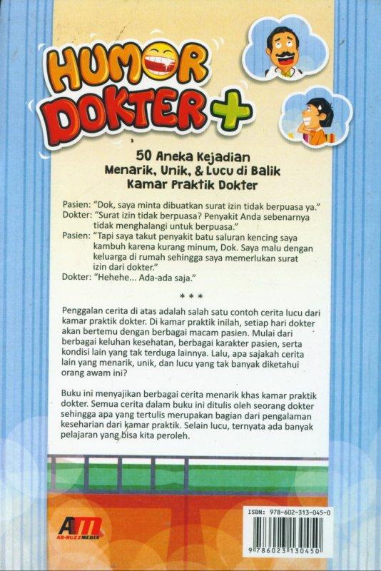 Cover Belakang Buku Humor Dokter