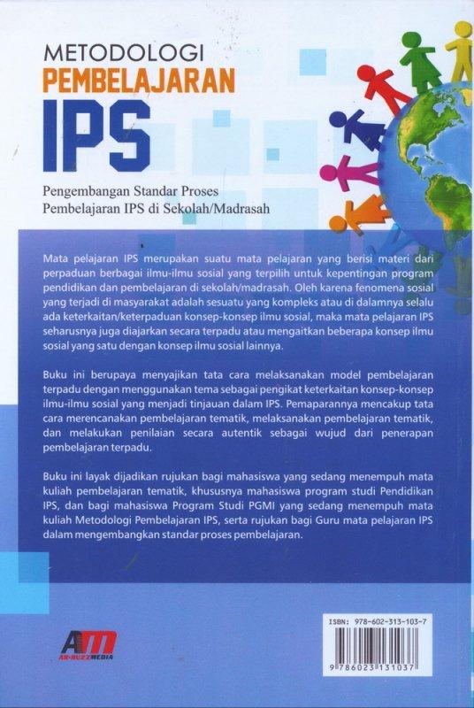 Cover Belakang Buku Metodologi Pembelajaran IPS