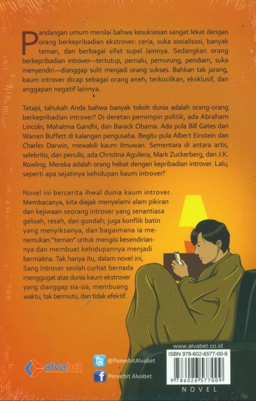 Cover Belakang Buku Introver: Sebuah Novel Penggugah Jiwa