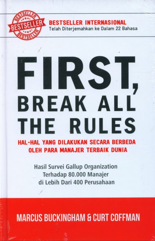 Cover Buku First, Break All The Rules (Hard Cover)