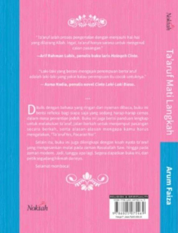 Cover Belakang Buku TA ARUF MATI LANGKAH