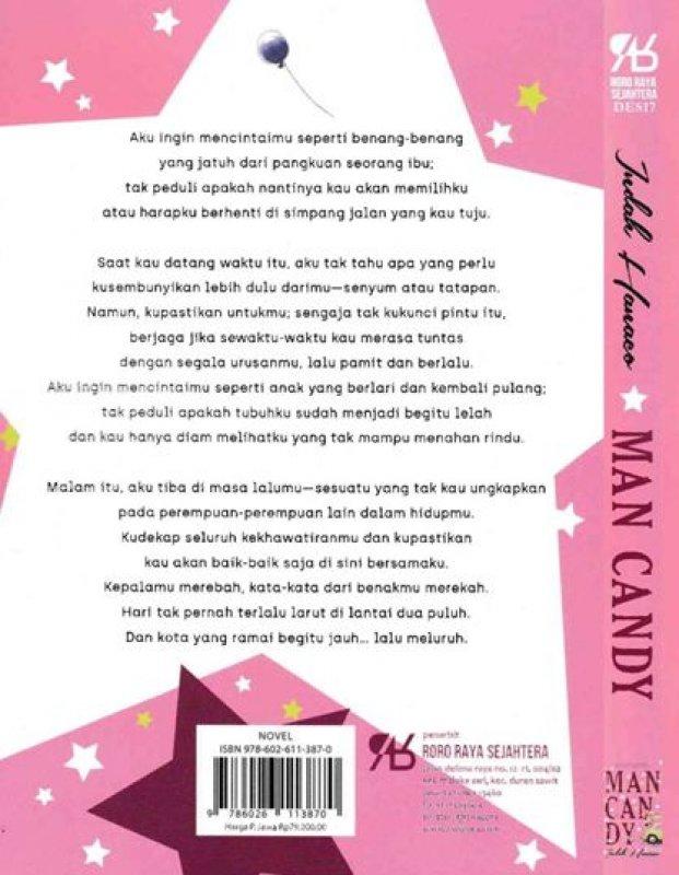 Cover Belakang Buku Man Candy [Edisi TTD ] bk