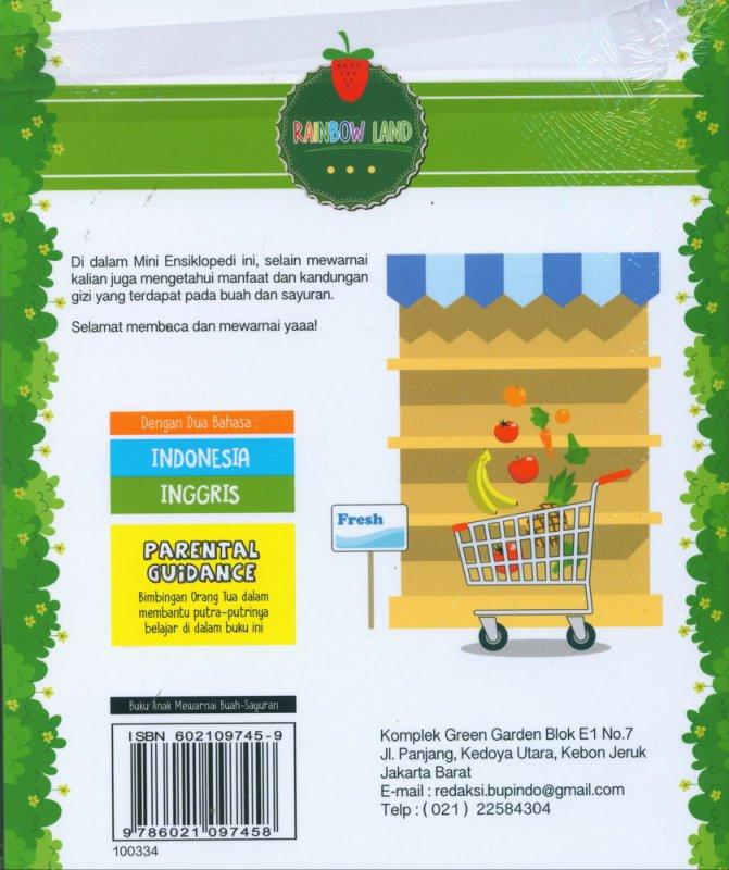Cover Belakang Buku Mini Ensiklopedi Mewarnai Buah & Sayuran