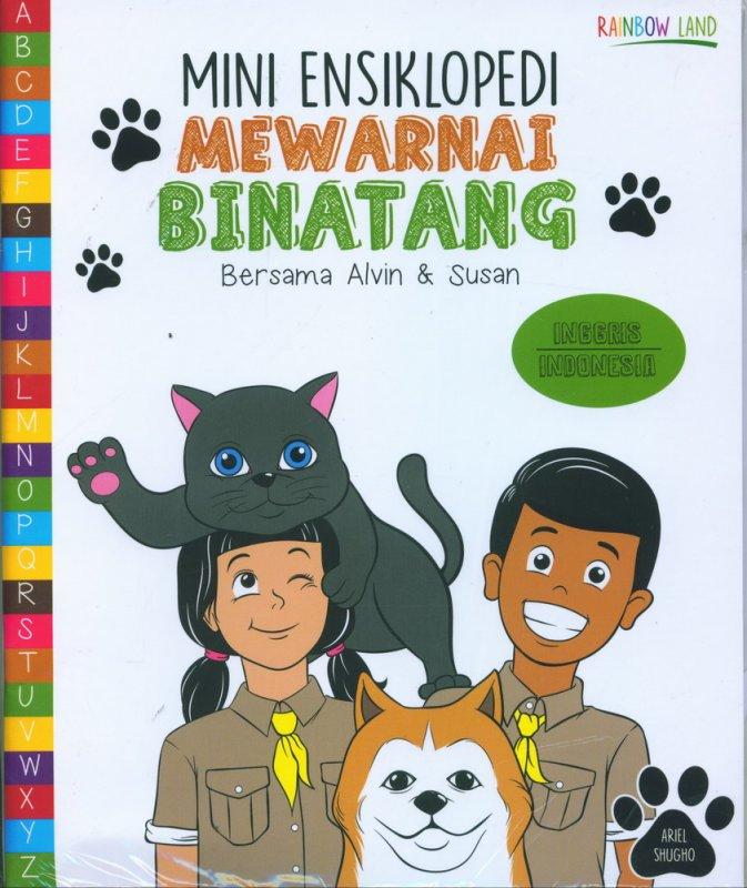 Cover Buku Mini Ensiklopedi Mewarnai Binatang Bersama Alvin & Susan