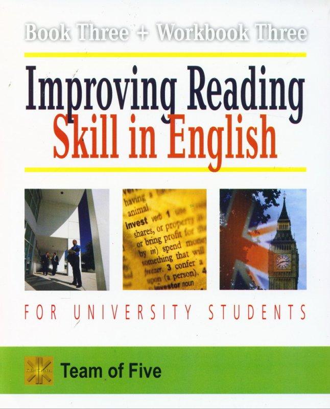 Cover Buku Improving Reading Skill in English for University Students (Book Three + Workbook Three)