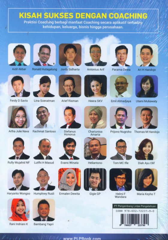 Cover Belakang Buku Kisah Sukses Dengan Coaching
