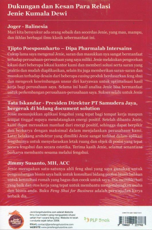 Cover Belakang Buku Feng Shui For Business