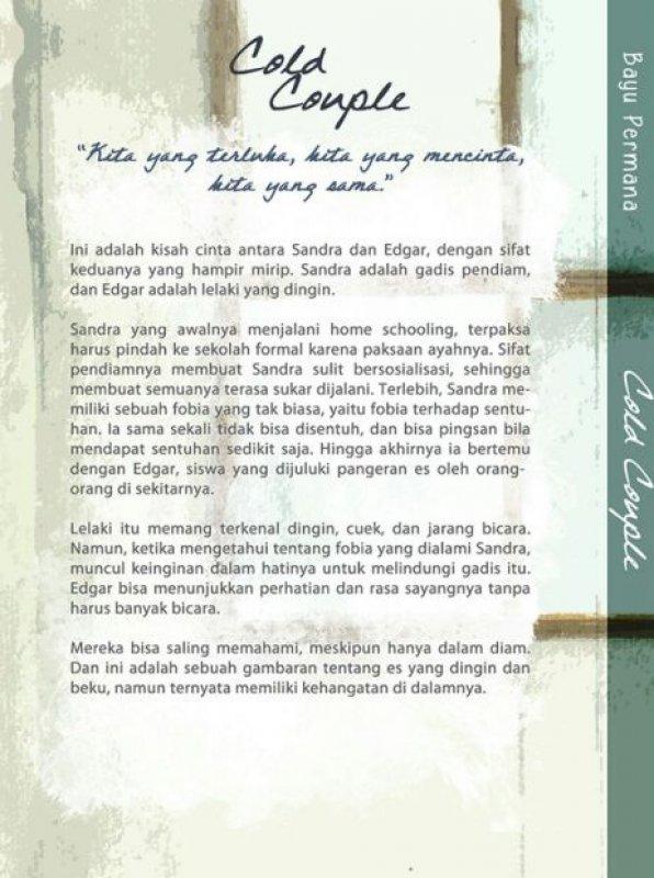 Cover Belakang Buku Cold Couple [Bonus: Blocknote] BK