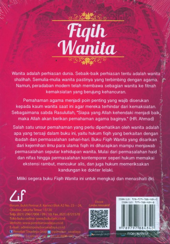Cover Belakang Buku Fiqih Wanita: Pedoman Rumah Tangga & Pendidikan Anak