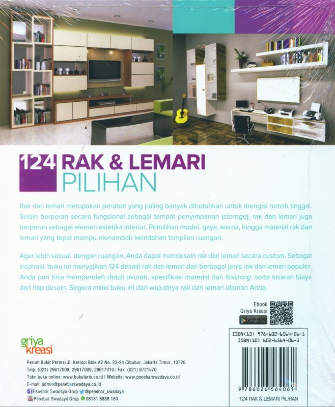 Cover Belakang Buku 124 Rak & Lemari Pilihan